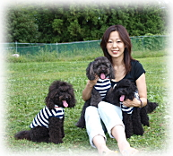 AngelWanの店長と看板犬